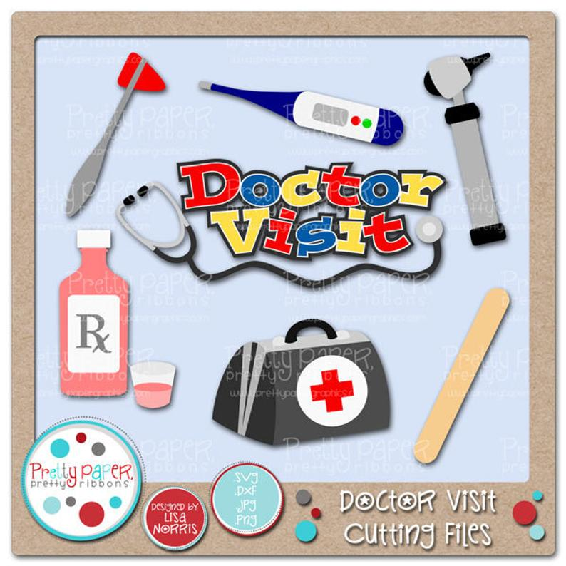 Doctor Visit Cutting Files & Clip Art.