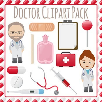 Doctors Visit Clip Art Pack for Commercial Use.