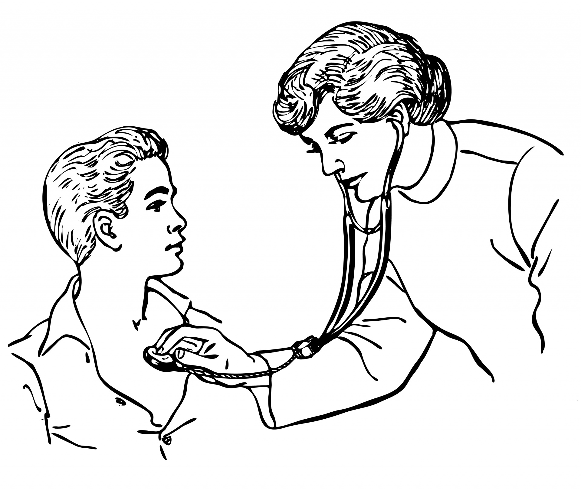 Doctor Stethoscope Child Clipart Free Stock Photo.