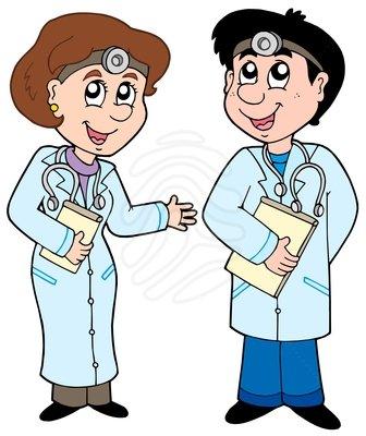 Clip Art Cartoon Doctors Clipart.