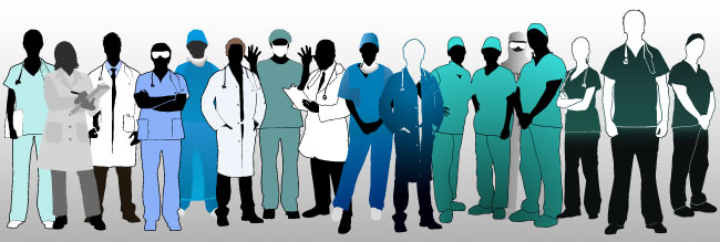 Clipart doctors and nurses.
