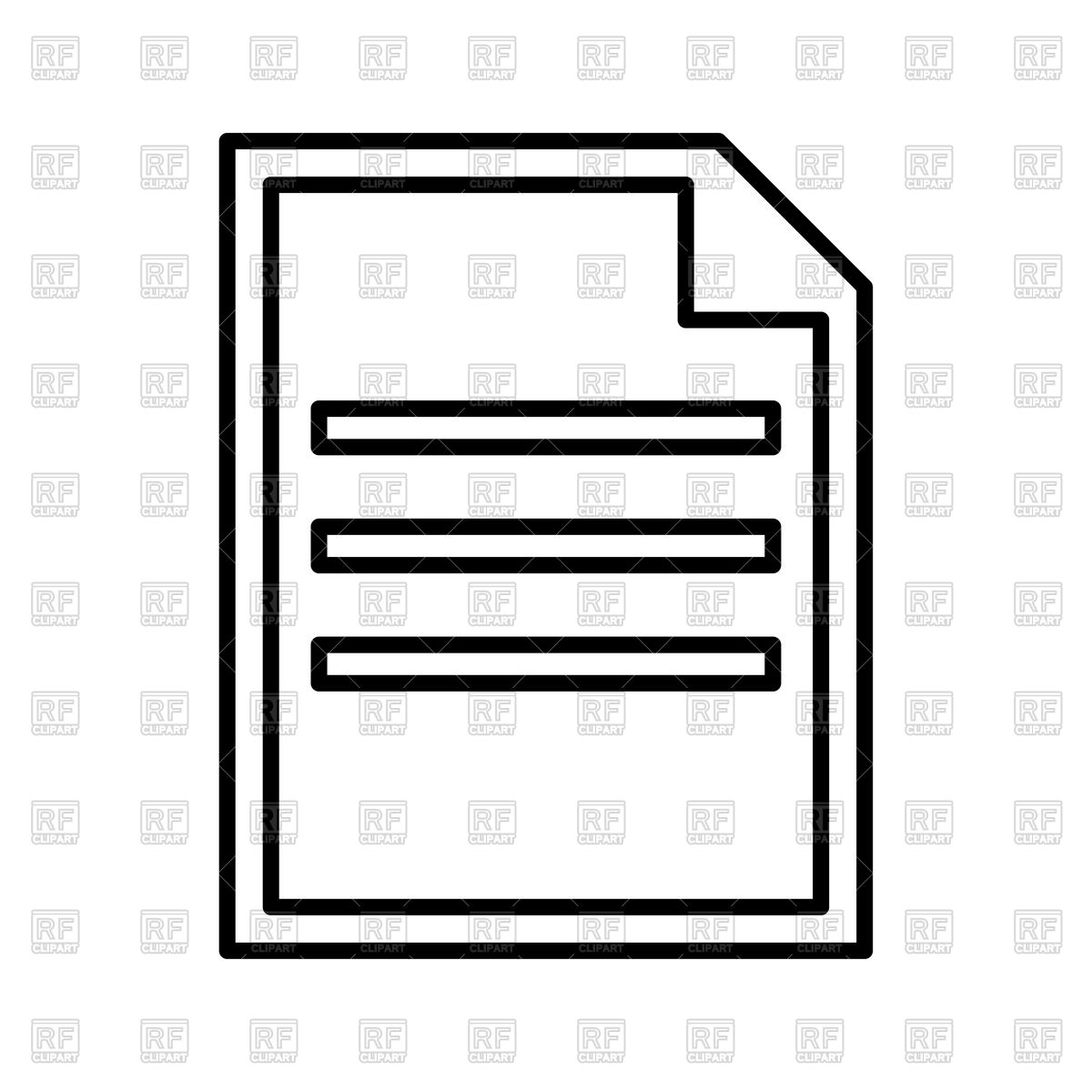 Document outline on white background Stock Vector Image.