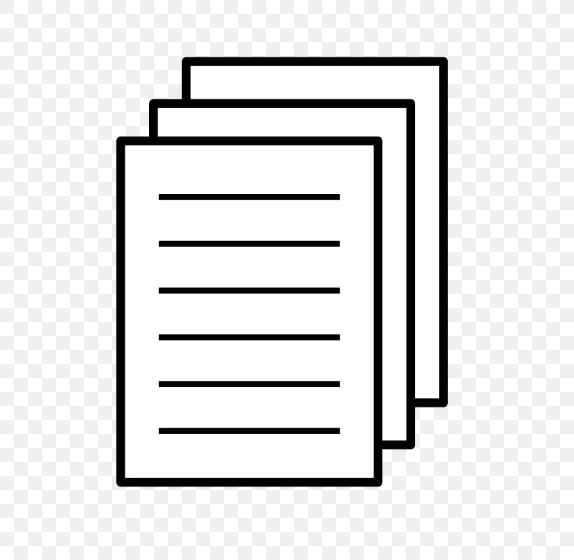 Paper Document Icon, PNG, 800x800px, Paper, Area, Black.
