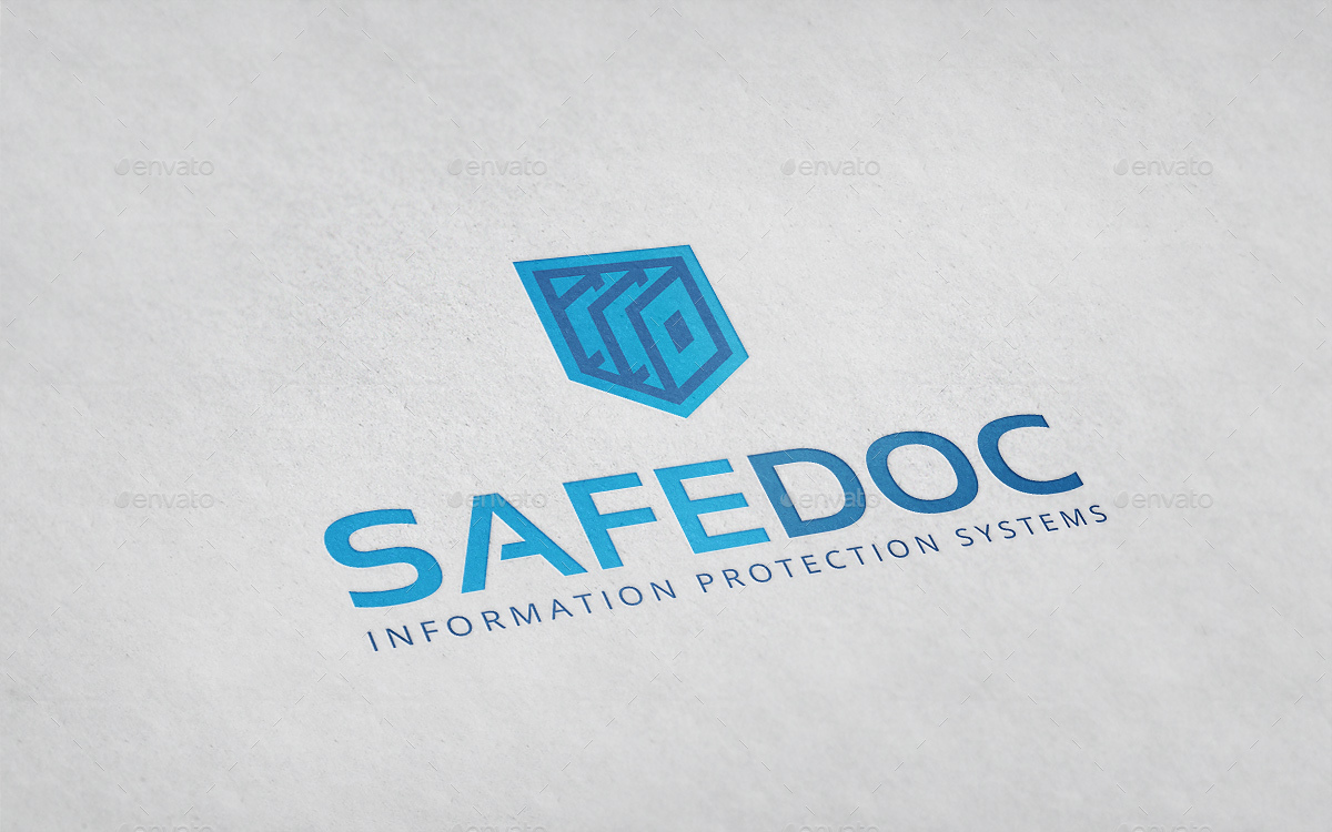Safedoc Shield Document Logo Template.