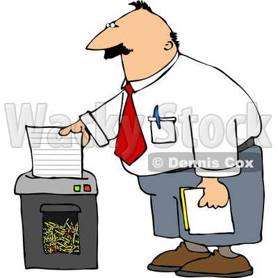 Paper Shredder Clipart by Dennis Cox.