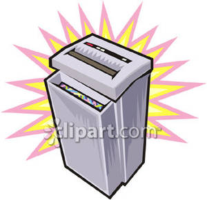 Paper Shredder Royalty Free Clipart Picture.