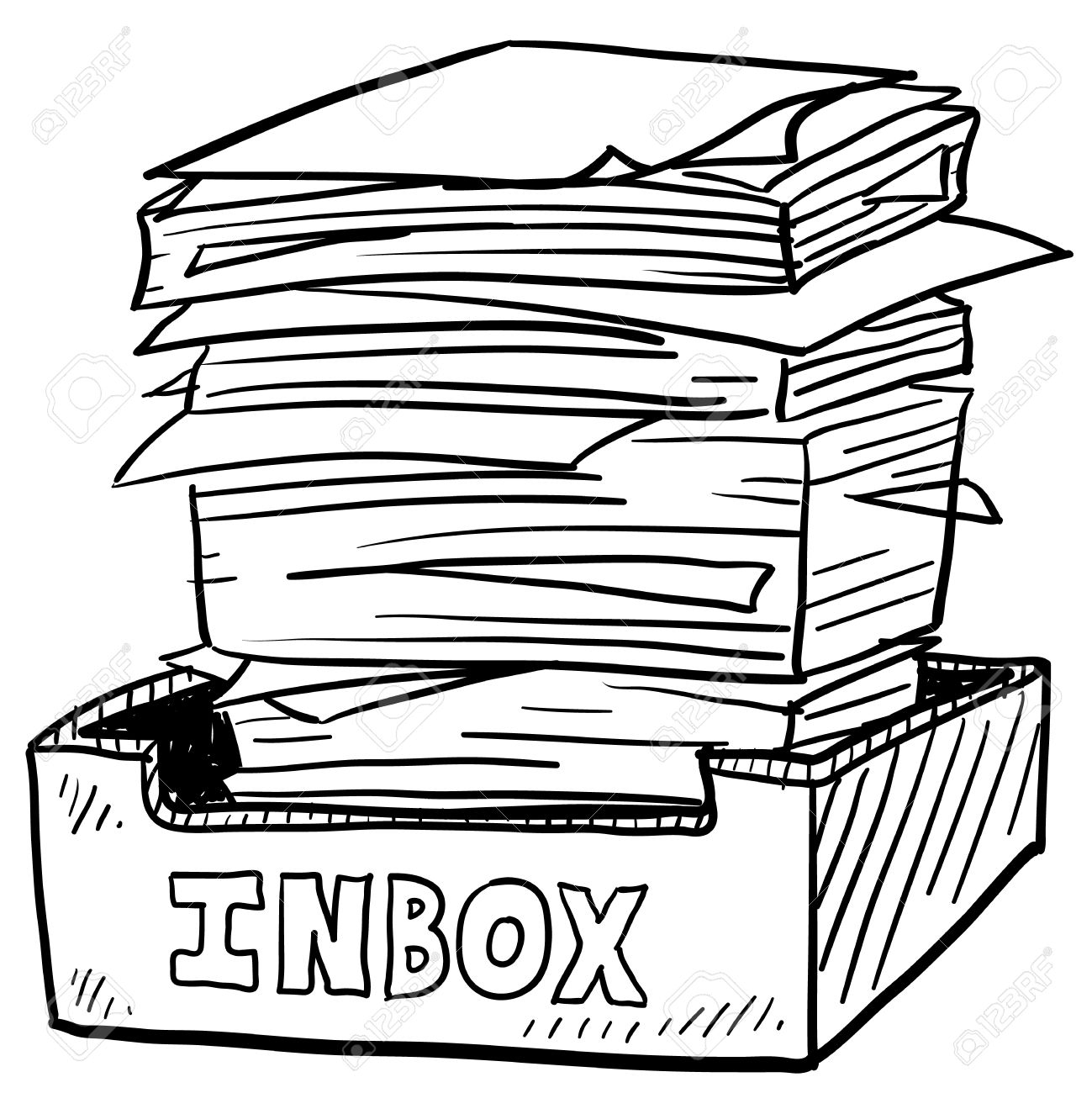 Business documents clipart.