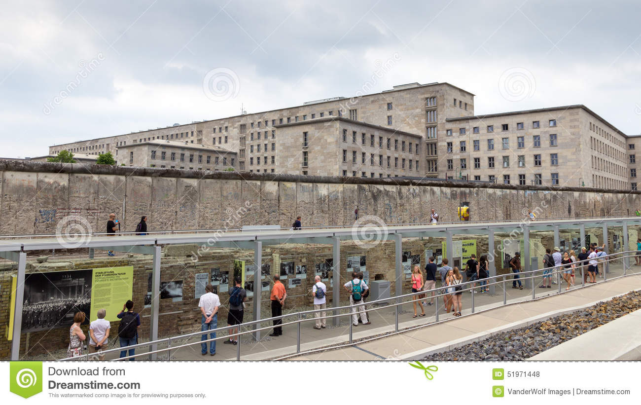Topography Of Terror Documentation Center Editorial Stock Photo.