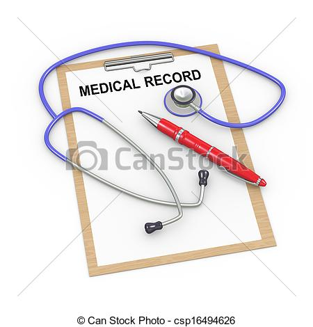 Medical documentation clipart.