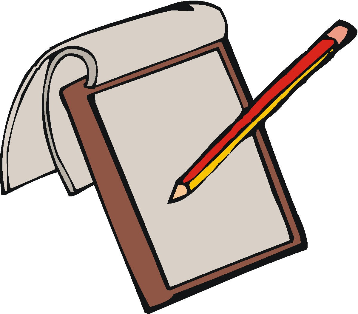 Book And Pen Clipart.