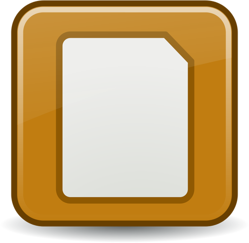 Documento ícone vector clipart.
