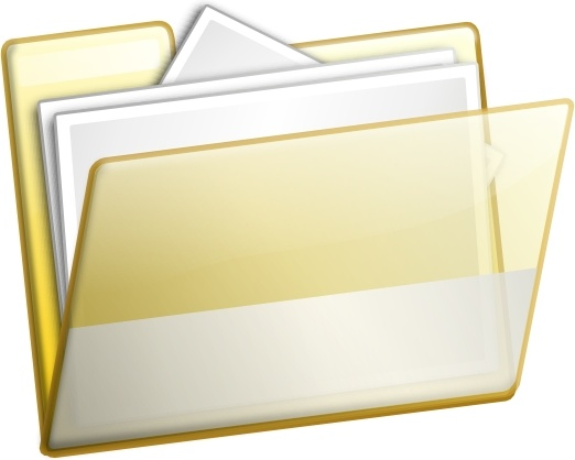 Simple Folder Documents clip art Free vector in Open office drawing.