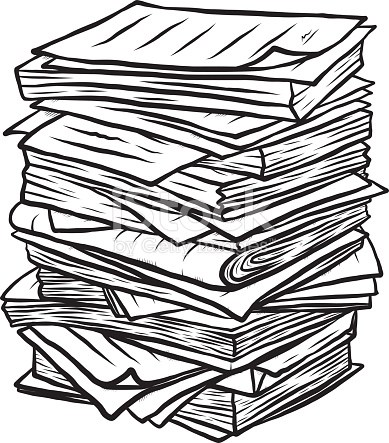 Pile de documents clipart 3 » Clipart Portal.