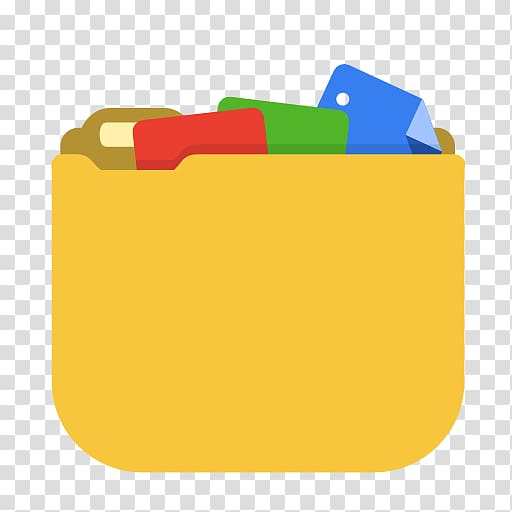 File icon, material yellow orange, System documents transparent.