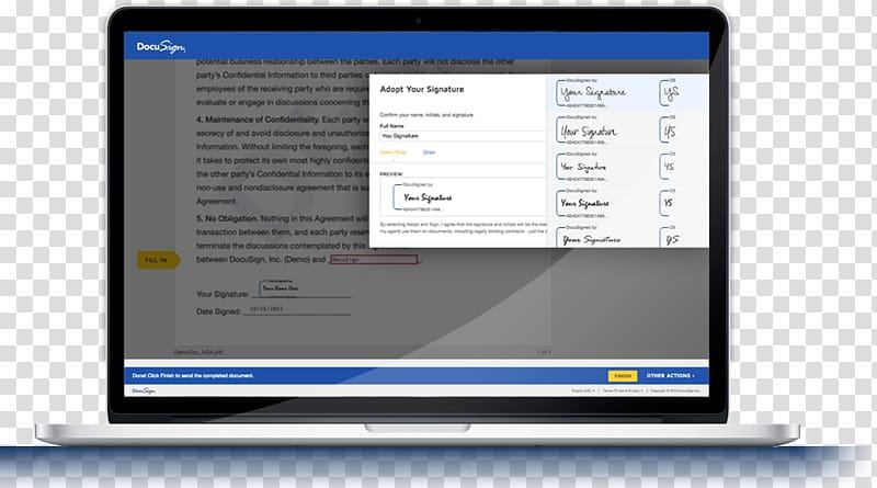 Computer program DocuSign Computer Software Electronic.