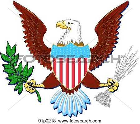Clipart of dod eagle 01p0110.