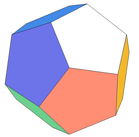 Dodecahedron clip art.