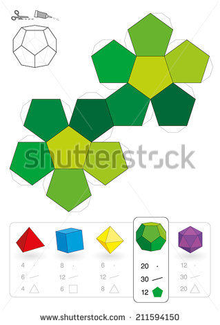 Dodecahedron Stock Photos, Royalty.
