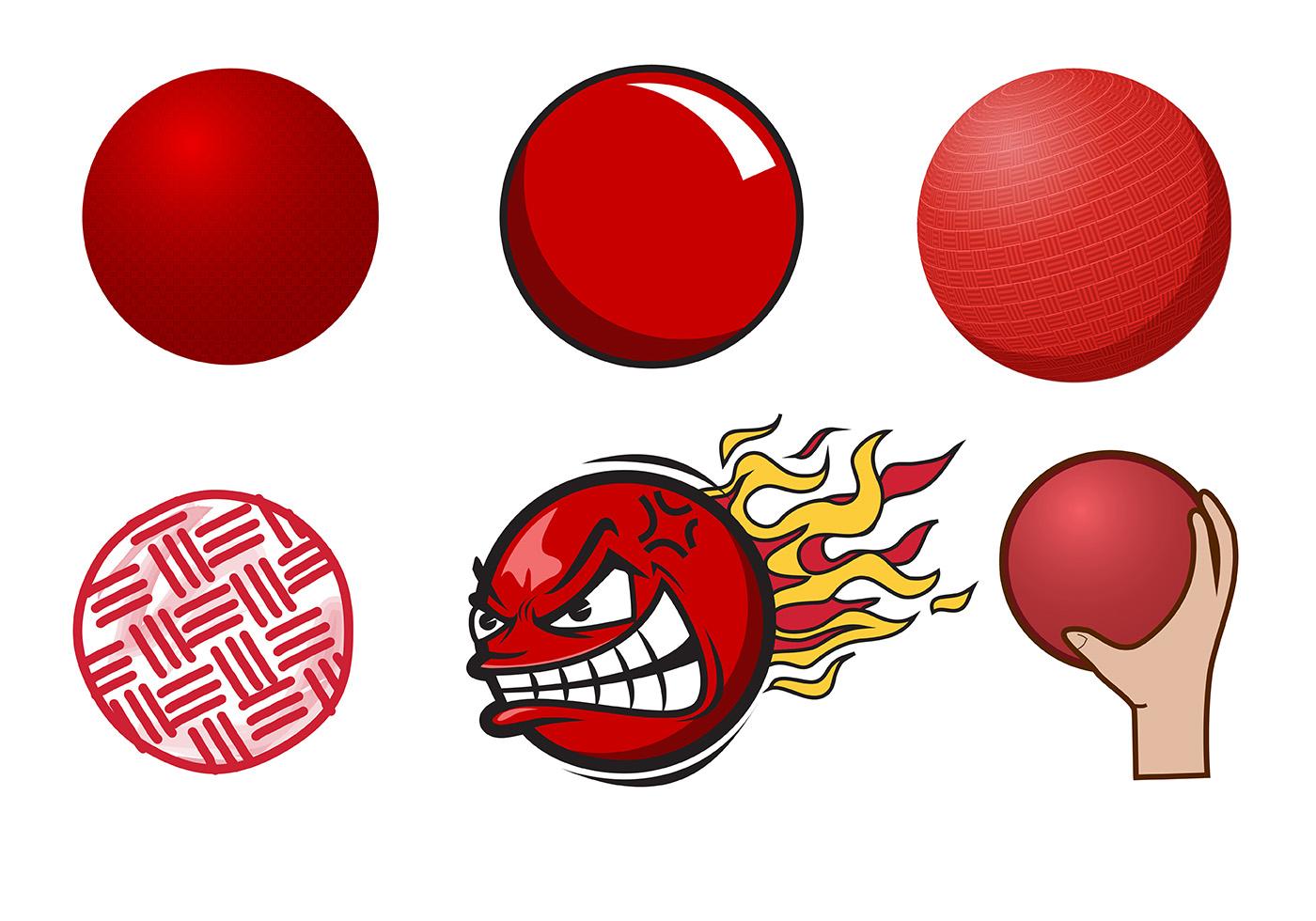 Dodgeball Free Vector Art.