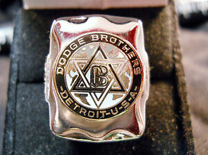 Details about Classic 1920s Style DODGE BROTHERS STAR DAVID LOGO Closionne  Nickel Silver Ring.