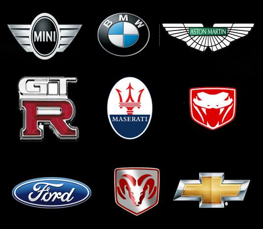 Various Car logo T.