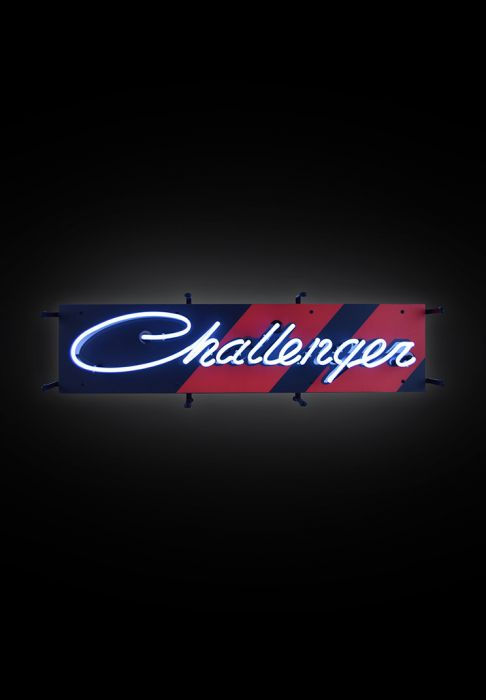 Challenger Neon Sign.