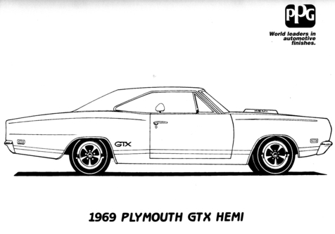 Dodge Charger Coloring Pages Only coloring page, coloring image.