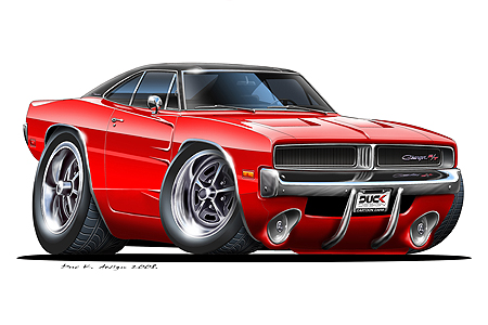 1969 dodge charger clipart.