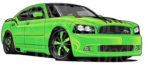 Dodge charger clipart.