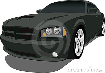 Dodge Charger Stock Illustrations.