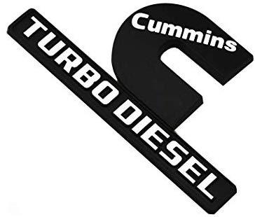 2pcs Cummins Turbo Diesel Emblems 3D Decal Badges High.