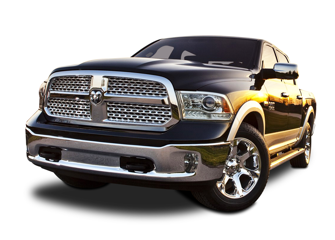 Front View of Dodge Ram 1500 Car PNG Image.