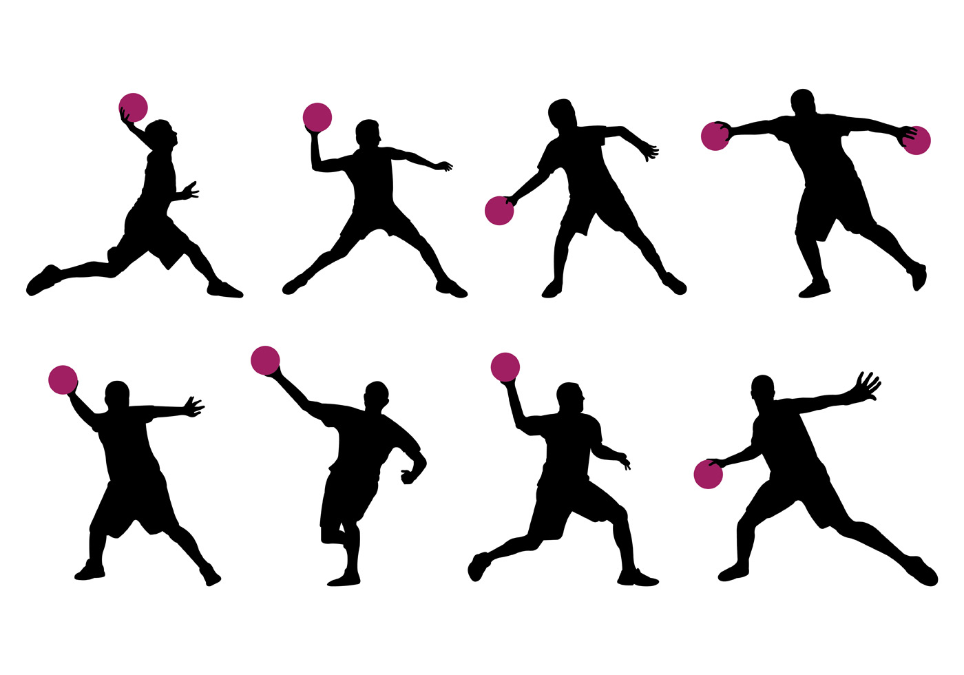 dodgeball player clipart silhouette