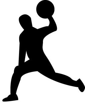 dodgeball player clipart silhouette - clipground