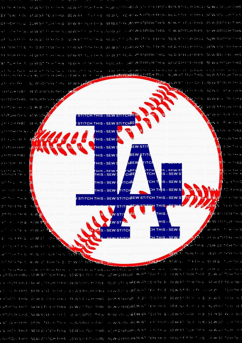 Dodgers Baseball Clipart La Free On Transparent Png.