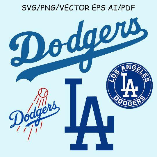 LA Dodgers SVG LA Dodgers Cut File Clipart Vector Sport Svg.