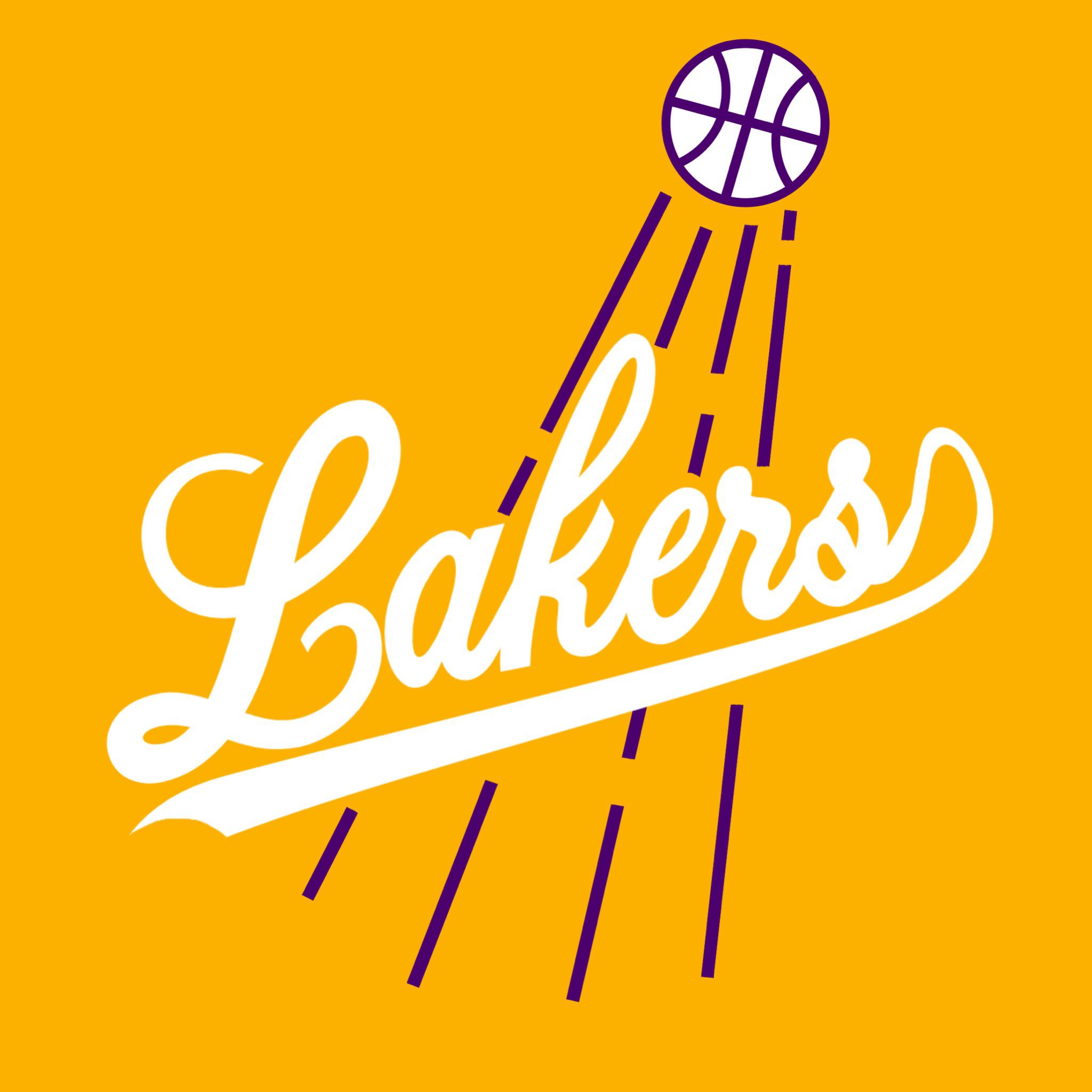 Lakers logo in the style of the Dodgers logo : Dodgers.