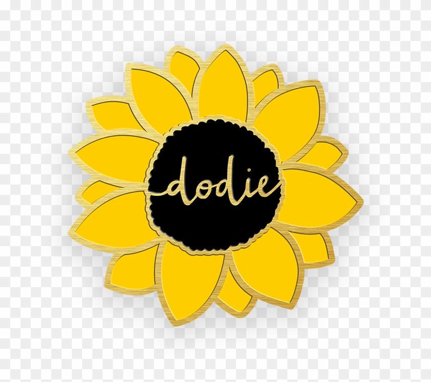Sunflower Enamel Pin Badge Dodie Clark, Modern Jewelry,.