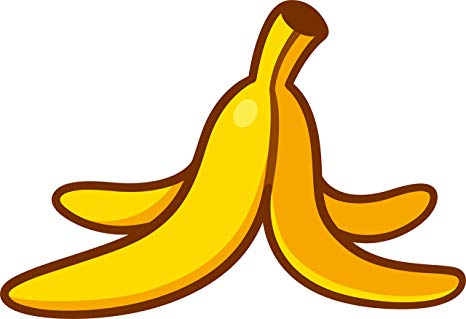 Amazon.com: Simple Ripe Yellow Banana Cartoon Art Emoji.