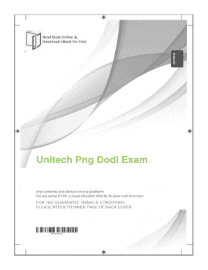 Fillable Online Free Download Unitech Png Dodl Exam. Free Download.