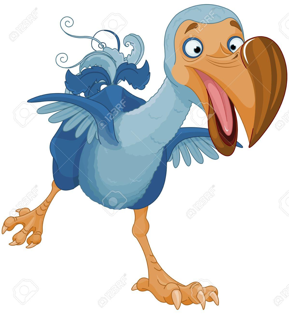 Illustration of cute Dodo bird.