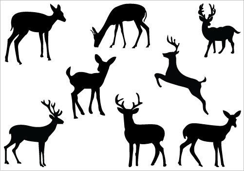 Free doe silhouette clipart.