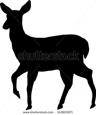 Doe deer head clipart.