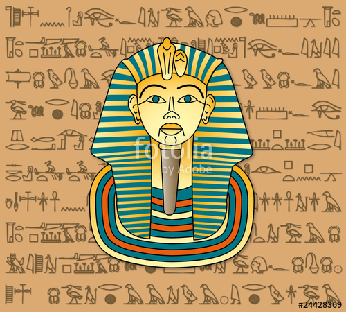 "Pharao Tut ench Amun"" Stock image and royalty."