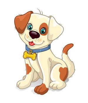 Tan Brown Cartoon Dog.