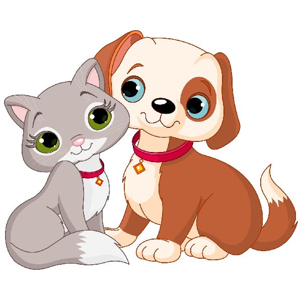 Dog and cat clipart.
