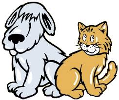 Cute Dog And Cat Clipart.