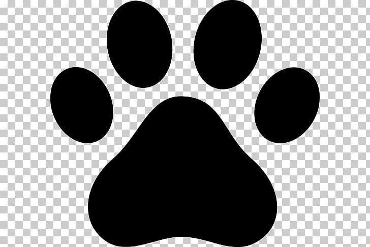 Dog Cat Paw Puppy , black paw prints PNG clipart.