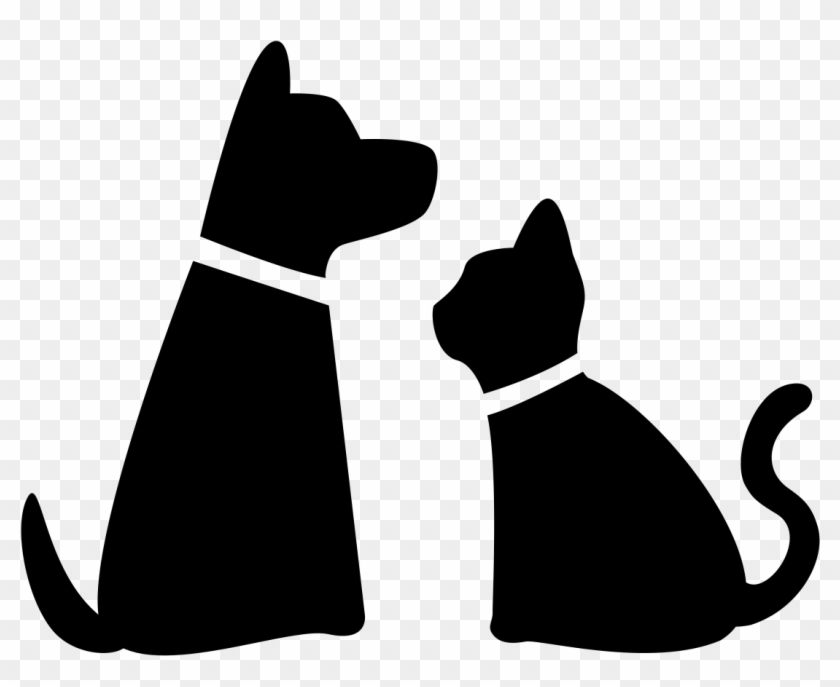 Dog And Cat Silhouette Png , Png Download.