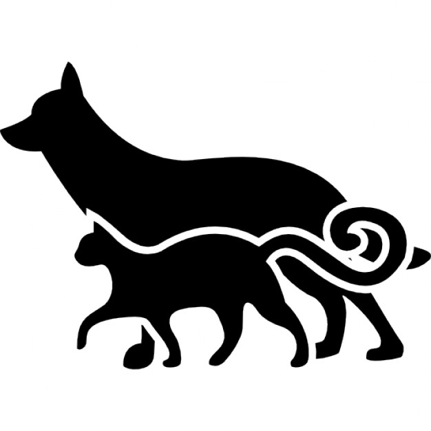 Cat And Dog PNG Black And White Transparent Cat And Dog Black And.